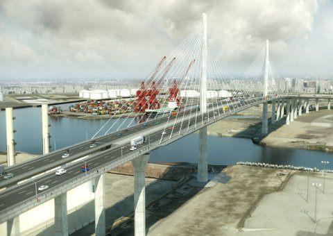 Gerald Desmond Bridge Port of Long Beach US